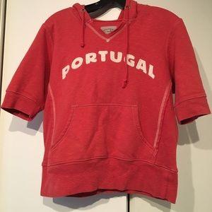 Med short sleeve hooded Portugal sweatshirt